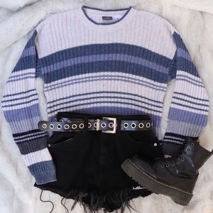 Route 66 Vintage Striped Knit Sweater